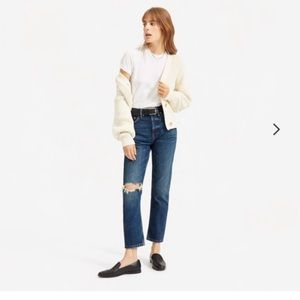 Everlane 90's Cheeky Straight Jean- Ankle Size 30